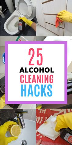 Rubbing alcohol is an awesome cleaning product for every home! It has plenty of household uses when it comes to cleaning and disinfecting. It can be used to disinfect your toilet seat, door knob and remove sticky residues in the bathroom. Here are 25 amazing ways to use rubbing alcohol at home, read the blog to learn all the cleaning tips and tricks! #homewhis #cleaninghacks #cleaningtips #cleaningideas #rubbingalcohol #rubbingalcoholuses Bathroom Cleaning Hacks, Cleaning Spray, Toilet Cleaning, Deep Cleaning, Kitchen Cleaning, Cleaning Recipes, Cleaning Tips, Cleaning Shoes, Rubbing Alcohol Uses