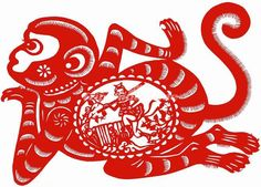 Chinese Paper Cutting Monkey http://www.tripchinaguide.com/photo-p109-3290-chinese-paper-cutting-monkey.html#photo_title