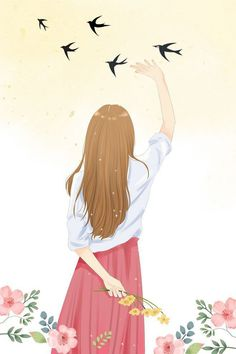 Read Girl art from the story Galeri Vector & Gambar Mentahan by la_flz (HIATUS) with reads. Cartoon Girl Images, Cute Cartoon Girl, Anime Girl Cute, Beautiful Anime Girl, Kawaii Anime Girl, Anime Art Girl, Cover Wattpad, Lovely Girl Image, Girly Drawings