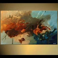 Abstract painting - The Far Shore