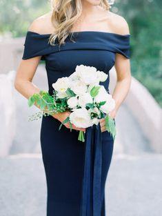 Fashion Industry Experts Tie the Knot at Rancho Bernardo Inn Blush Wedding Theme, All White Wedding, White Wedding Flowers, Gorgeous Wedding Dress, Bridesmaid Dress Colors, Bridesmaid Bouquet, Bridesmaids, Indigo Wedding, Gowns Of Elegance