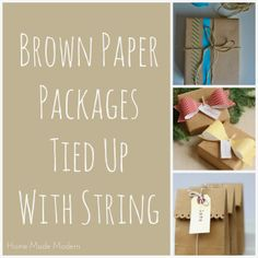 of the Week: Wrapping Ideas and a Printable-Palooza Brown Paper Packages/Gift WrappingBrown Paper Packages/Gift Wrapping Christmas Countdown, Christmas Time, Christmas Crafts, Christmas Ideas, Merry Christmas, Creative Birthday Gifts, Creative Gifts, Creative Things, Creative Gift Wrapping