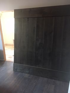 "Large 64"" x 84"" Rustic Rough Sawn Pine Barn Door with Jacobian Stain for Bypass Closet Application."