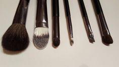 Amazon.com : Docolor(TM) 6Pieces Wooden Handle Professional Makeup Brush Set Foundation Blending Eyeshadow Eyebrow Lip Smokey Eye Brush Face Powder Brush Makeup Brushes Travel Kit with Cosmetics Case : Beauty