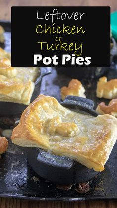 Great use for leftover chicken or turkey! Chicken pot pies are so easy to make at home! This recipe from Binky's Culinary Carnival is the perfect quick and easy weeknight meal. #homemade #recipe #chicken #potpie #leftover Leftover Chicken Recipes, Easy Meat Recipes, Duck Recipes, Leftovers Recipes, Dinner Recipes, Easy Chicken Pot Pie, Turkey Chicken, Recipe Chicken, Ham Left Over Recipes