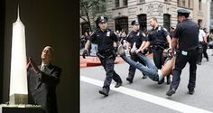 Police carry away a participant in a march organized by Occupy Wall Street in New York on Saturday Sept. Wall Street, Revolution, Bail Bondsman, Never Settle, New Uses, New Trailers, New York Street, New World Order, Cops