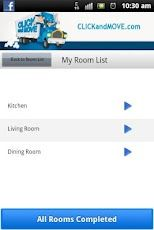 CLICKandMOVE App for Android: Look through a list of rooms to match what you have in your current or new home