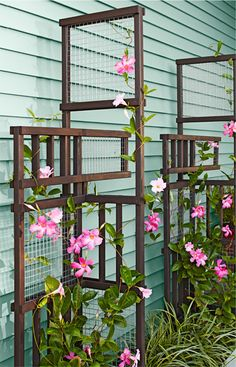 Build a trellis as an outdoor architectural element that becomes more beautiful when intertwined with climbing plants. -- Lowe's Creative Ideas