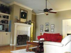 dining room universal khaki paint | LoveOlympiaJune: Sherwin Williams Relaxed Khaki and Universal Khaki
