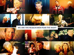 Angel & Spike - I seriously only pinned this for the image of Spike with Buffy's mom. I freaking love that haha!