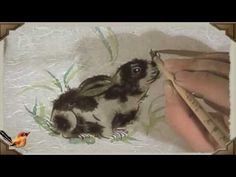 V2 Rabbit Practice Chinese Painting Bunny - Chinese Flower and Bird Pain...