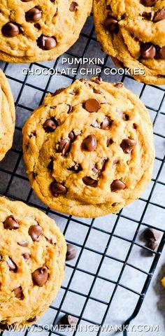 Chocolate Chip Pumpkin Cookies www.somethingswan...