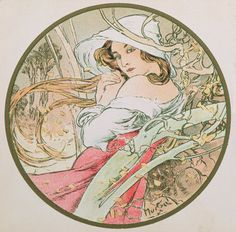 ❤ - Alphonse Mucha   The Months - November, 1899.