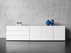 White Sideboard, Modern Sideboard, Credenza, Side Board, Modern Kitchen Design, Home Interior Design, Home And Living, Sweet Home, New Homes