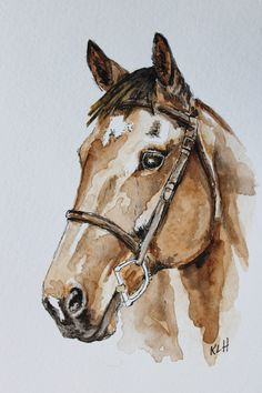 Excited to share the latest addition to my shop: Custom Horse Portrait, Size Inch, Original Watercolor Painting Watercolor Horse, Watercolor Animals, Watercolor Landscape, Watercolor Paintings, Simple Watercolor, Tattoo Watercolor, Watercolor Trees, Watercolor Techniques, Watercolor Background