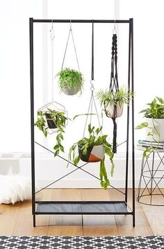 It can snuggle into a bare-looking corner of the room or literally stand right in front of the window. They'll get all of that light without blocking too much of it from the rest of the room! Learn more here.Get a garment rack from Ikea for $9.99.