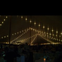 Cafe lights in tent