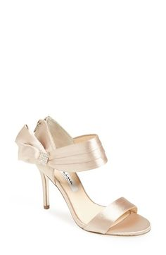 Nina+'Cosmos'+Sandal+(Women)+available+at+ Almost rose goldy Cute Shoes, Me Too Shoes, Comfy Shoes, Pretty Shoes, Bridal Shoes, Wedding Shoes, Types Of Gowns, Traditional Gowns, Bridal Skirts