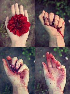Anggap saja bunga ini seperti seseorang. Jika kamu memegangnya terlalu erat dia akan lepas dari tanganmu.
