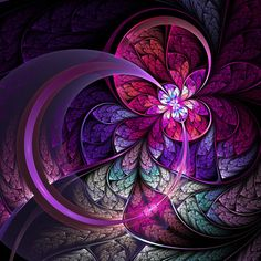Fractal art (digital art) - Created in Apophysis.  © Eli Vokounova.