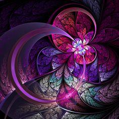 Fractal art (digital art) - Created in Apophysis.  © Eli Vokounova.