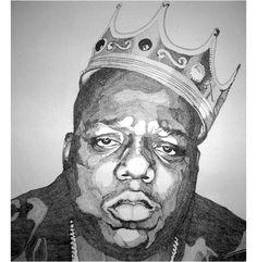 Happy Birthday, Mr. Wallace #sipchampagne [ballpoint pen portrait by Everett Jacob]