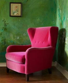 Skylark chair from Sofa Workshop - I love this take on a wing chair.more relaxed. Perhaps a slightly tamer colour? Living Room Inspiration, Interior Design Inspiration, Sofa Workshop, Pink Sofa, Pink Chairs, Room Chairs, Palette, Best Sofa, Take A Seat