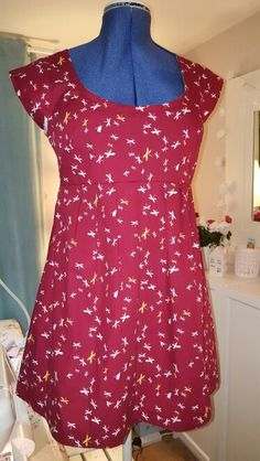 Washi dress no Altered neckline and finished with bias rather than facings. Washi Dress, Dress Ideas, Dressmaking, Day Dresses, Neckline, Rompers, Sewing, Clothes, Women