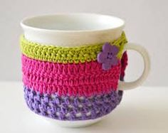 crochet cup cozy - Google Search