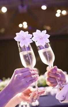 RealWeddings   ブライダルインポートアクセサリーレンタルショップ The Timeless Love Flute, Real Weddings, Champagne, Tableware, Dinnerware, Tablewares, Flutes, Dishes, Tin Whistle