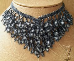 V collar drape necklace