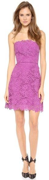Monique Lhuillier Lace A Line Dress on shopstyle.com