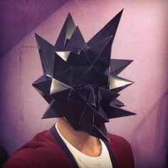 Sculpture masque Crying Sun en papier - Paper Mask Crying Sun Sculpture #paper…