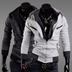 De espesor hombres chaqueta outwear prima estilo de bolsillo sudaderas con capucha chaqueta de m, l, xl, xxl en de en Aliexpress.com