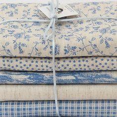 """Kit de tecidos """"Linho Bleu"""""""