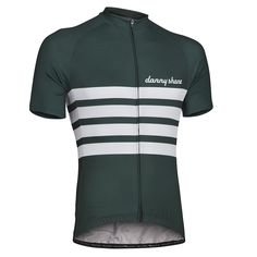 Gent Performance Jersey - British Racing Green from DannyShane | Designer Cycling Apparel of Bamboo White Ash Fabric