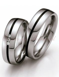 Stainless Steel Wedding Bands for Couple