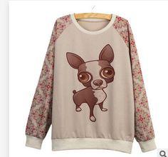 Aliexpress.com : Buy 16 Style Cut Dog Print O Neck All Sleeve Autumn Sweatshirt Hoodies Polerones Mujer Moleton Feminino Emoji Harajuku Totoro Kawaii from Reliable Hoodies & Sweatshirts suppliers on China Pets' Mart Company | Alibaba Group