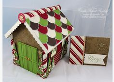 CraftProjectCentral.com » Blog Archive » Gingerbread House Box & Card!