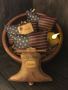 A personal favorite from my Etsy shop https://www.etsy.com/listing/231254351/primitive-liberty-bell-and-american-flag