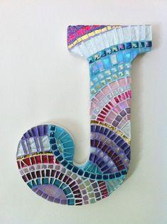 Nursery letters, Nursery wall mosaic letters, Pink, Purple & Teal nursery decor, nursery wall letters Teen Room Decor