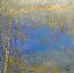 march pond ~ oil on canvas ~ by kathleen earthrowl