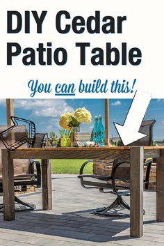 Use Your HD Kreg Jig To Build This DIY Cedar Patio Table To Enjoy All Summer
