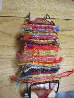 Fox On The Run Meanderings...: Jan's Weaving and Progress on Her Rag Rug...