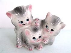 Vintage Kitten Planter by RevivalVintageStudio on Etsy, $35.00