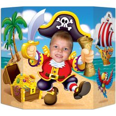 Send all the little pirates home with a special photo of them with the Pirate Photo Prop. The Pirate Photo prop is made of cardboard and measures approxim Pirate Birthday, Pirate Theme, Boy Birthday, Pirate Games, Mermaid Birthday, Party Props, Party Themes, Party Ideas, Decoration Pirate