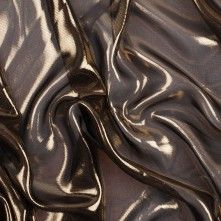 Gold/Black Icy Polyester Chiffon