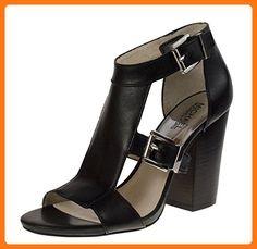 Michael Michael Kors Robin T-Strap Women US 7 Black Sandals (*Partner Link)