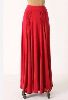 """NWOT Anthropologie Red Summer Maxi Skirt by Maeve In """"Havana Fresca""""!!Size Small"""