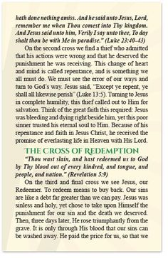 Gospel Tract – The Three Crosses – Moments With The Book Prayer Book, My Prayer, Jesus Quotes, Bible Quotes, Bible Study Notebook, Who Is Jesus, Jamel, Christian Life, Christian Quotes